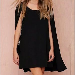Black dress with cape